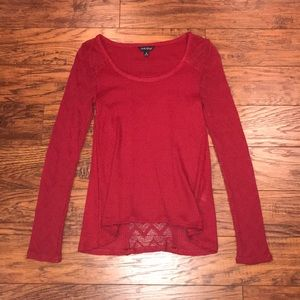 Lucky Brand Red long sleeve